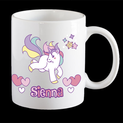 Personalised Cute Unicorn Coffee Mug, kids unicorn mug