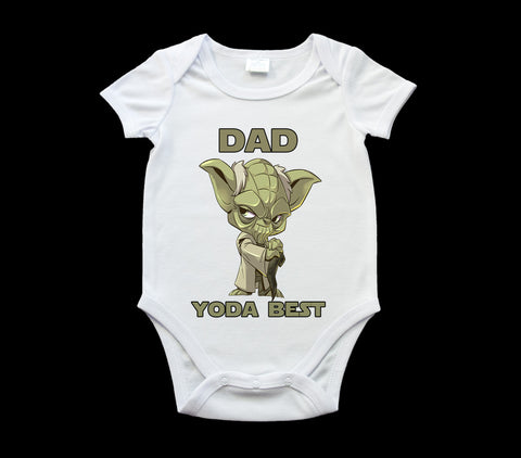 Father's Day Yoda Best Dad baby onsie, romper suit, Baby one piece, Star Wars