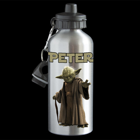 Personalised Yoda Water Bottle, Star Wars Yoda Aluminium drink bottle