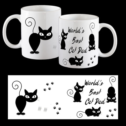 World's Best Cat Dad Personalised Coffee Mug
