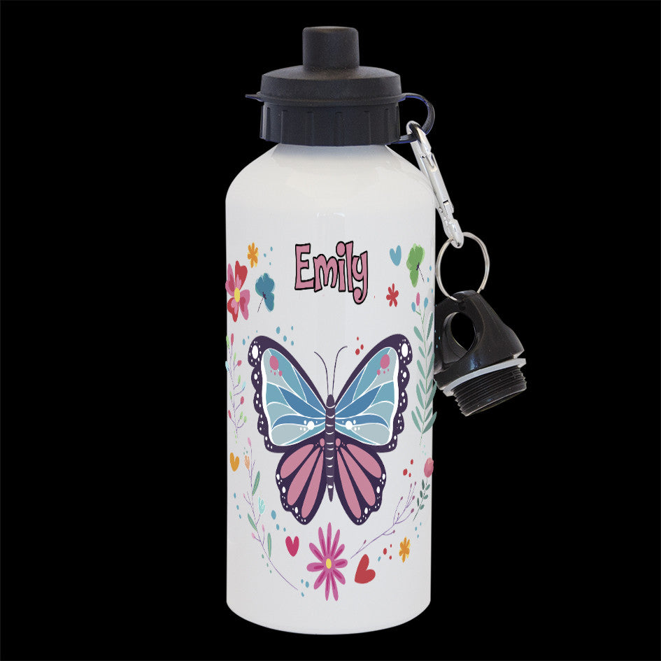 Personalised Butterfly water bottle