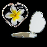 personalised Frangipani make up mirror