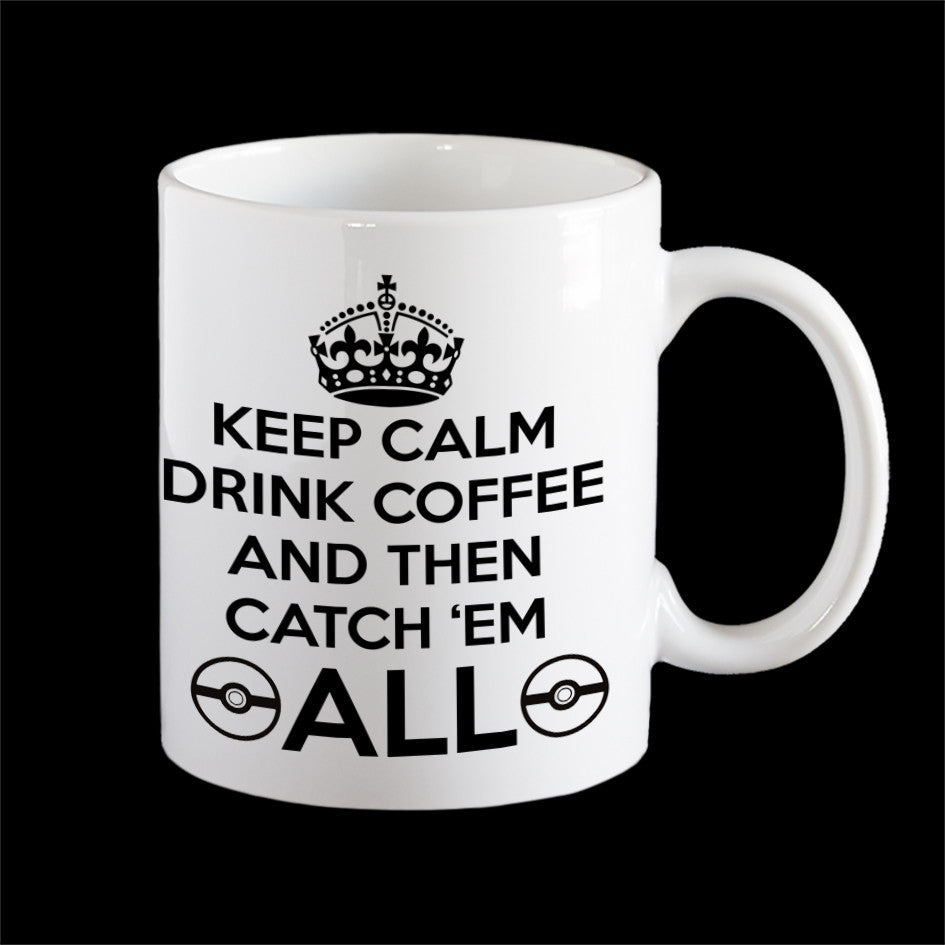 Pokemon Go keep calm mug