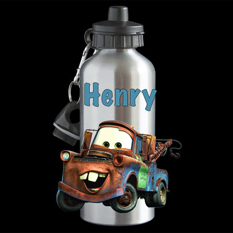 "Personalised Mater ""Cars"" movie Water Bottle, drink bottle"