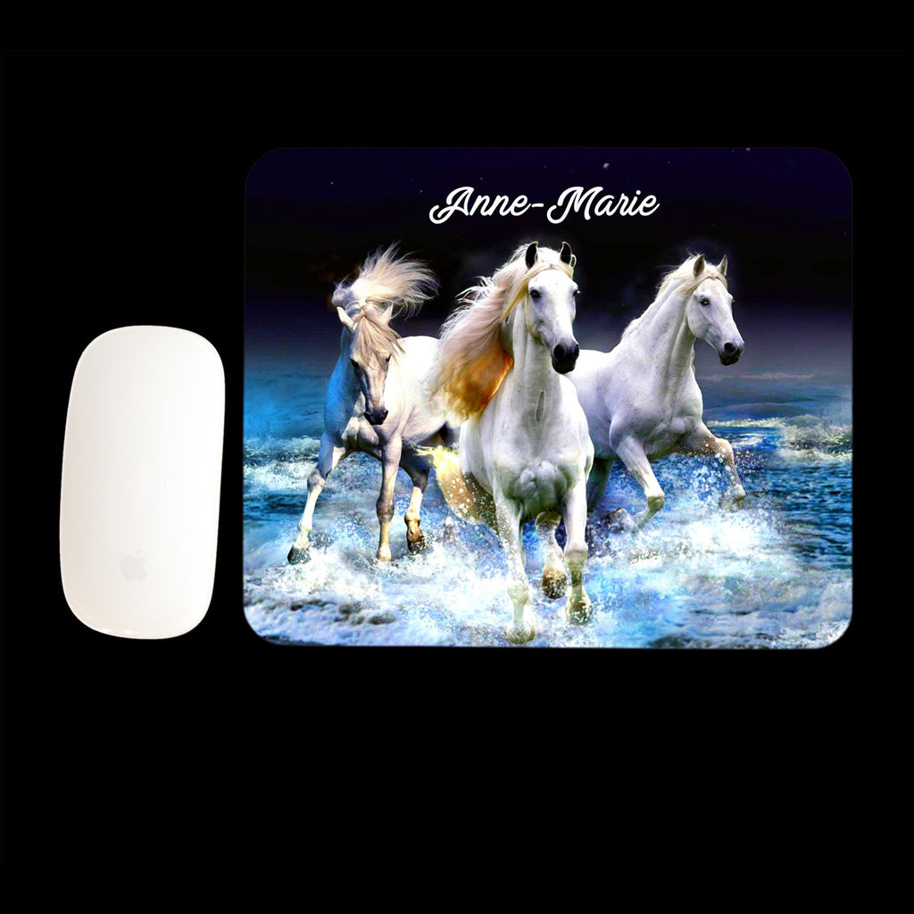 Personalised Running Horses Mouse Pad, Horse Mouse mat