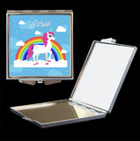 personalised unicorn makeup mirror