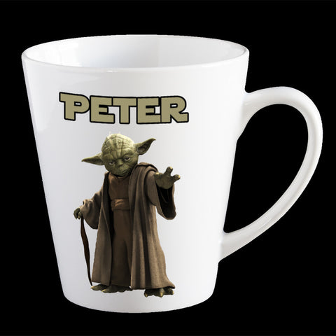 Personalised Yoda Coffee Mug, Star Wars Yoda personalised kids mug