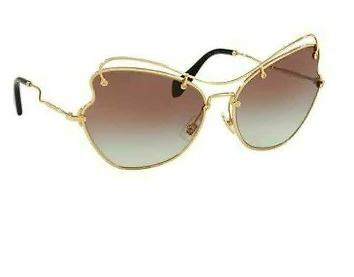 Miu Miu Gold Gradient Gray/Brown Scenique Collection Sunglasses  65L x 19W x 135H