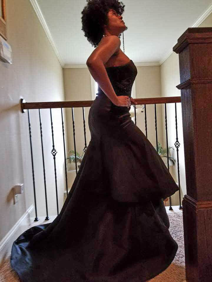 Monique L'huilier Amazing Black Asymmetrical Ball Gown