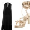NWT VALENTINO Cape Pleated Crepe-Silk-Chiffon Gown.
