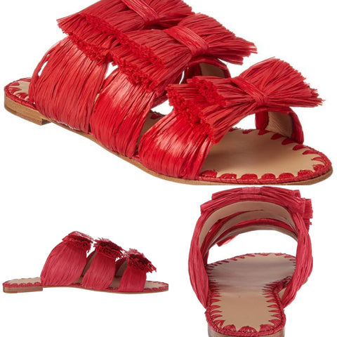 MIU MIU  Leather Cage Sandals