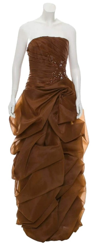 JOVANI Ruffled Strapless Gown SZ 8