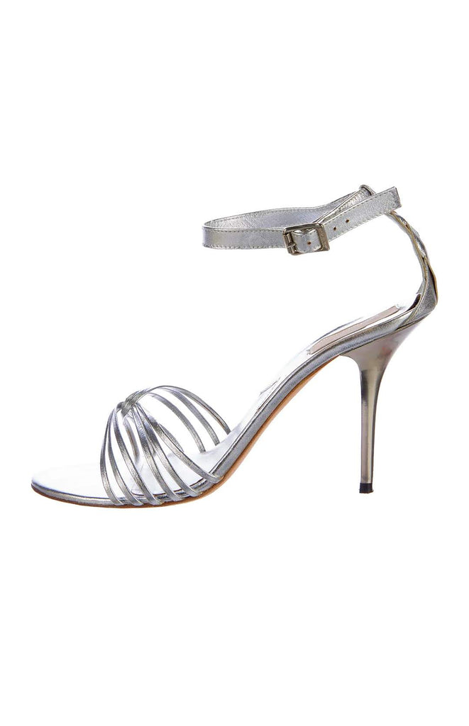 MICHAEL KORS Jax Metallic Sandals