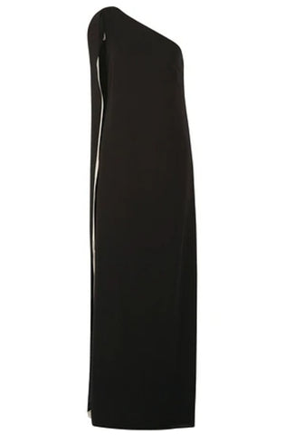 Elie Saab Black Studded Silk Formal Gown