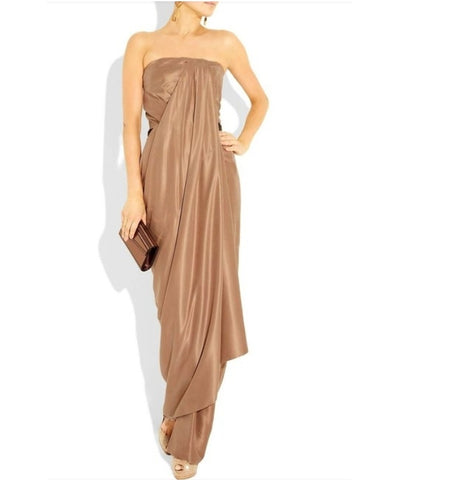 CINQ À SEPT One-Shoulder Jeanette Gown SZ 4