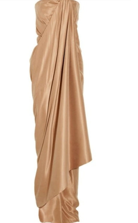 KAUFMANFRANCO  Draped Silk Gown w/ Tags  Size: L,  US10, IT46
