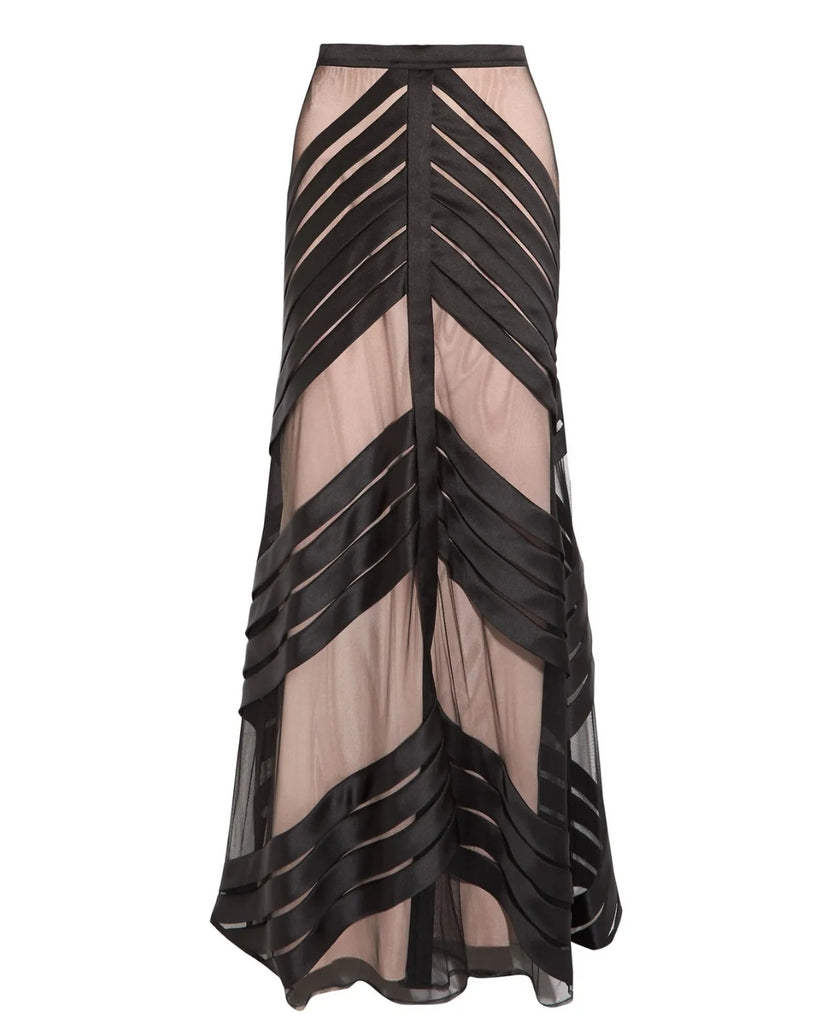TEMPERLEY LONDON  Lilith satin-trimmed tulle maxi skirt