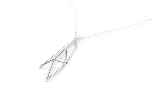 Nina Berenato Jewelry Prism Necklace Unique Handcrafted Geometric Modern Sculptural Design