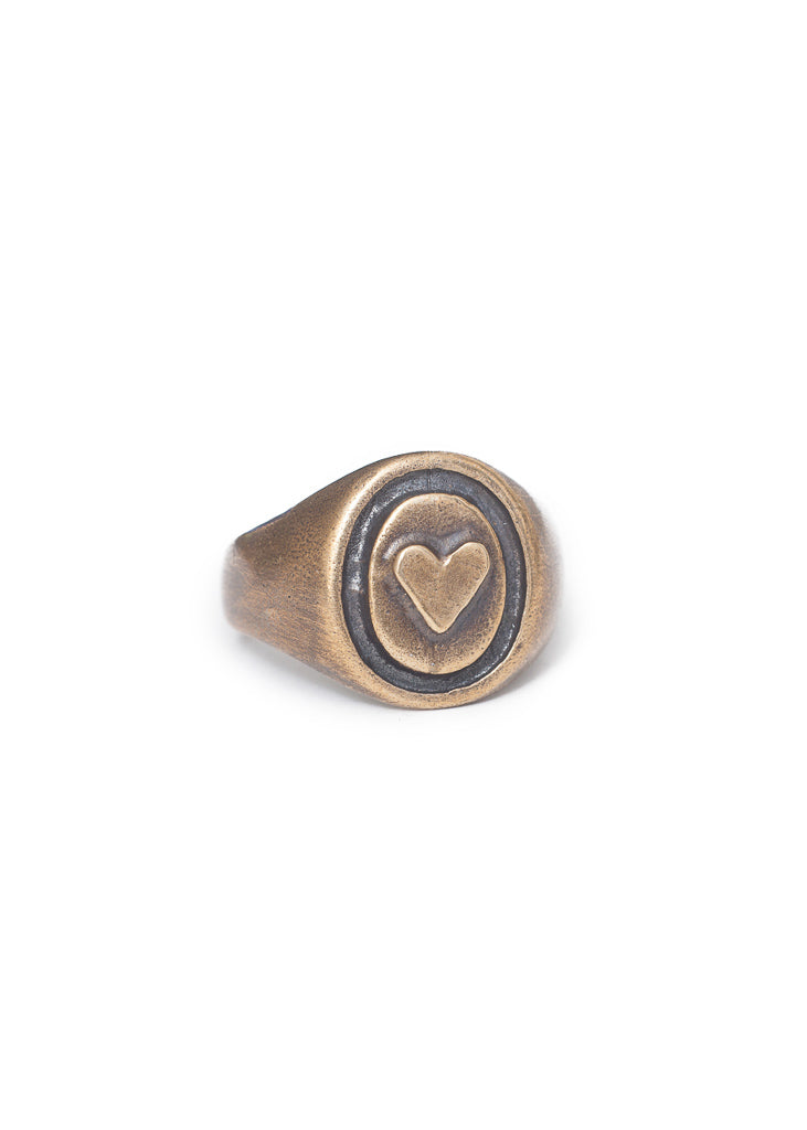 Open Your Heart Signet Ring