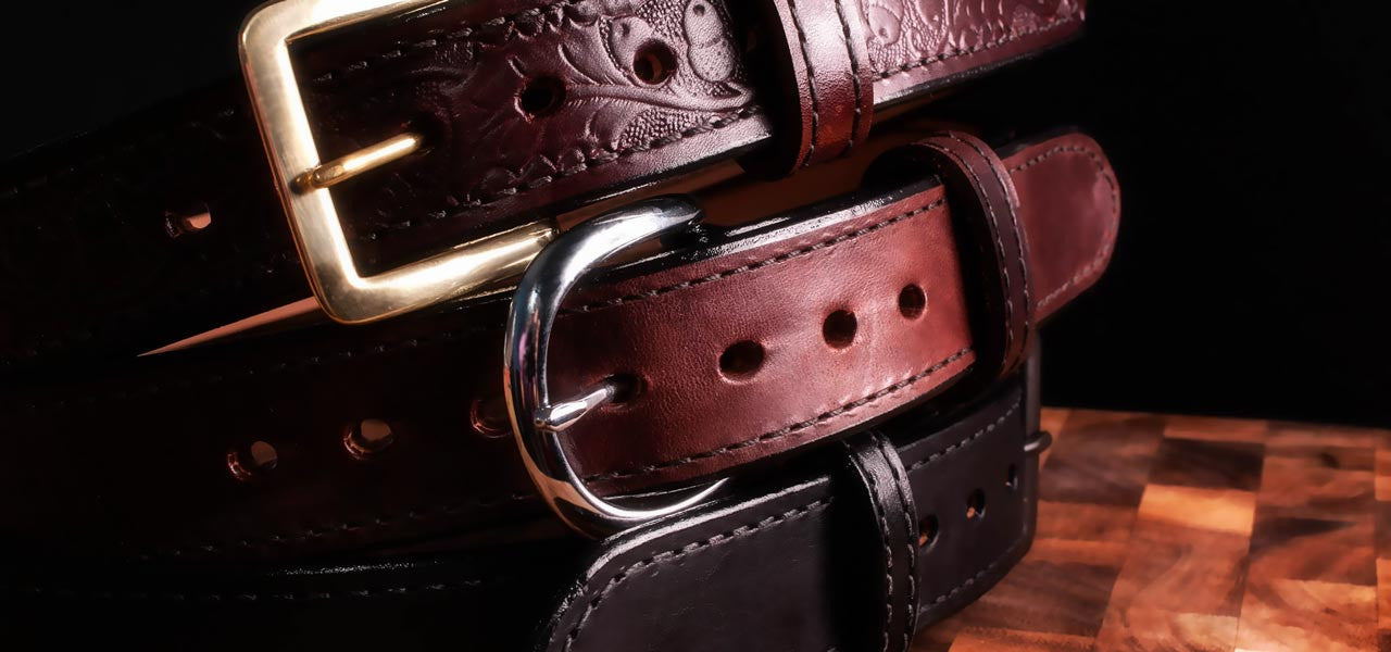 The Gold Standard in Leather Gun Belts