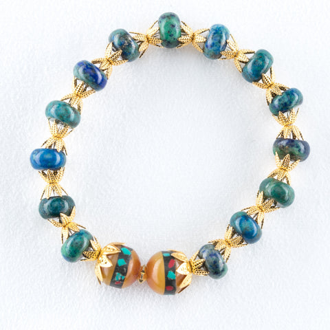 Allison Schiller Moroccan Amazonite Stretch Bracelet