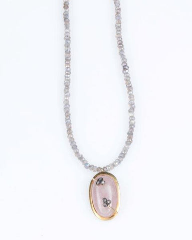 Allison Schiller Labradorite and Pavé Diamond Sparkle Necklace