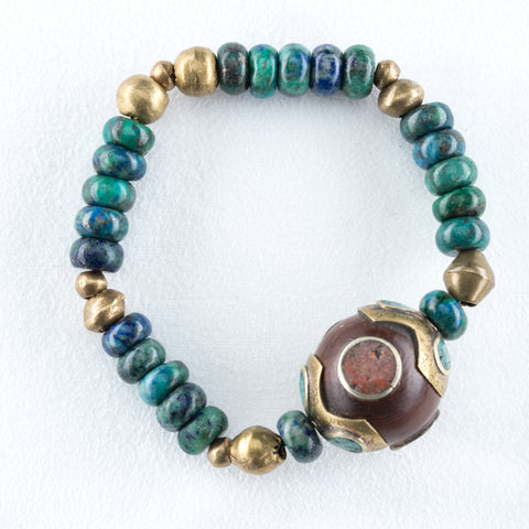 Allison Schiller African Beaded Amazonite Bracelet