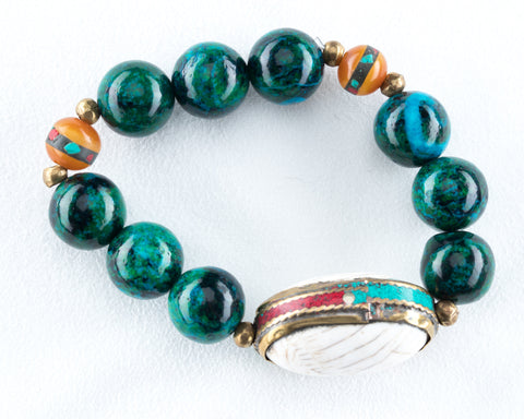 Allison Schiller Tibetan Amazonite Beaded Bracelet
