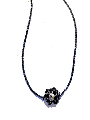 Allison Schiller Tibetan Hematite Necklace