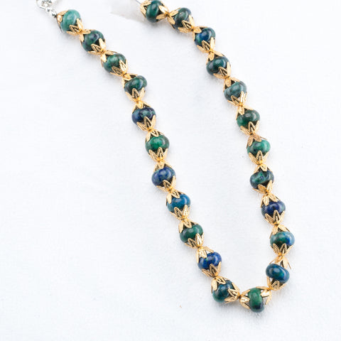 "Allison Schiller Moroccan 33"" Amazonite Necklace"