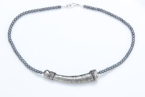 "Allison Schiller Tibetan Hematite 17"" Necklace"