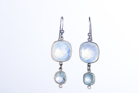 Allison Schiller Opalite and Aquamarine Earrings