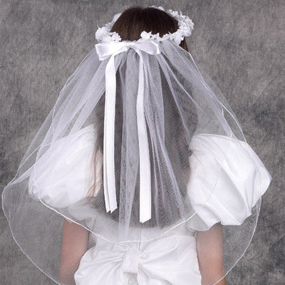 Ethereal Wreath First Communion Veil - The Paschal Lamb