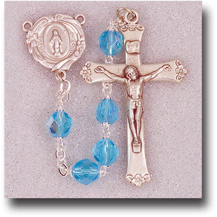 "21"" Aqua Borealis Handcrafted Rosary - The Paschal Lamb"
