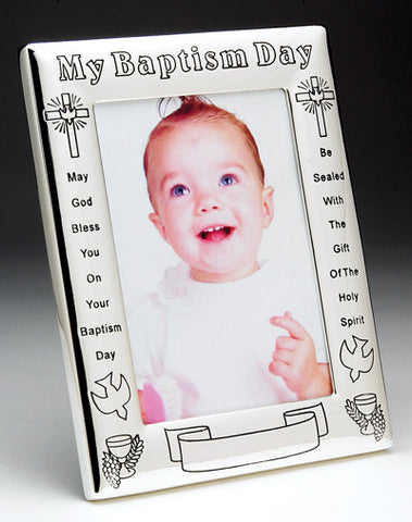"""My Baptism Day"" Photo Frame - The Paschal Lamb"