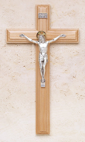Maple Crucifix with Salerni Corpus - The Paschal Lamb