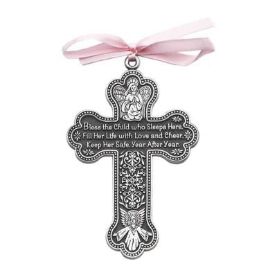 Pewter Child's Gift Cross - The Paschal Lamb