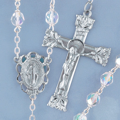 Firepolished Crystal Rosary - The Paschal Lamb