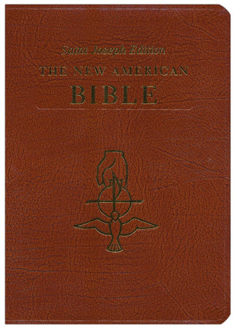 New American Bible Large Size Leather - The Paschal Lamb