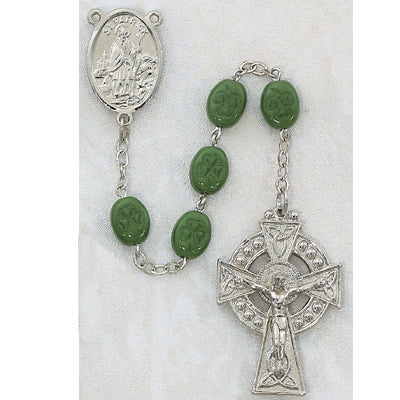 Green Shamrock Rosary - The Paschal Lamb