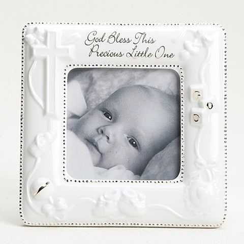 God Bless This Precious Little One Picture Frame - The Paschal Lamb