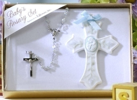 Crib Cross and Rosary Set - The Paschal Lamb