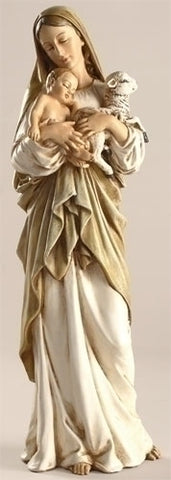 Madonna with Child and Lamb Statue - The Paschal Lamb