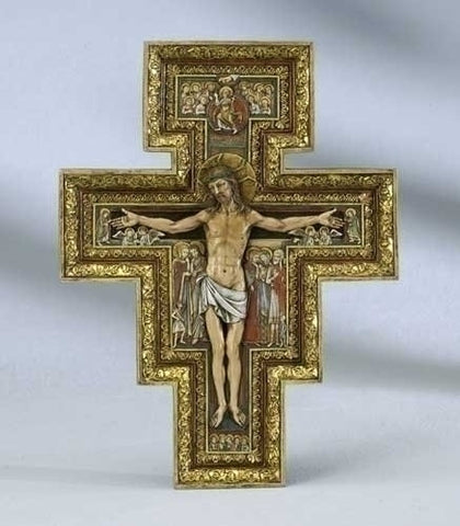 "10.75"" San Damiano Cross - The Paschal Lamb"