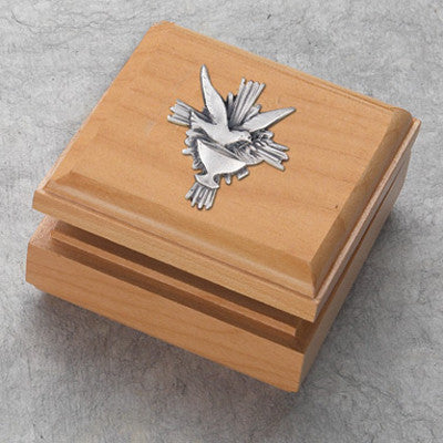 Maple Holy Spirit Box - The Paschal Lamb