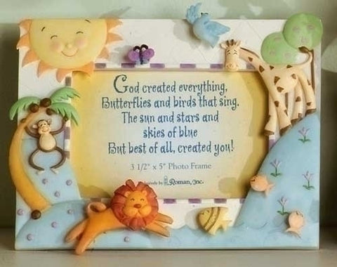 God Created Everything Photo Frame - The Paschal Lamb