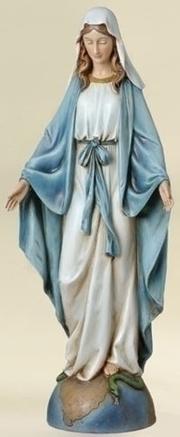 "14"" Our Lady of Grace Statue - The Paschal Lamb"