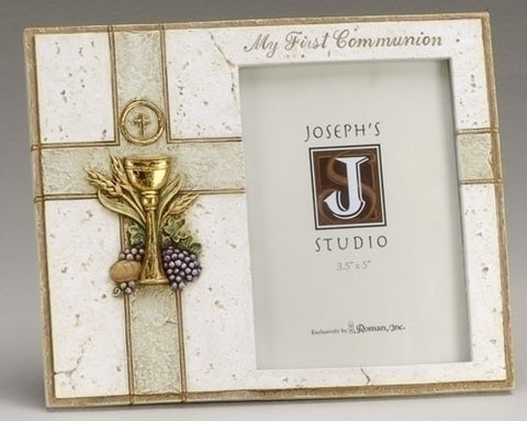 Chalice First Communion Photo Frame - The Paschal Lamb