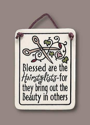 Blessed are the Hairstylists Plaque - The Paschal Lamb