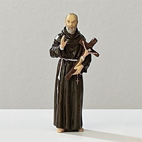 "3.5"" St. Padre Pio Statue - The Paschal Lamb"